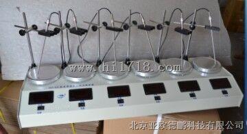 数显恒温多头磁力加热搅拌器/六工位数显恒温磁力搅拌器 型号:DP-HJ-6A