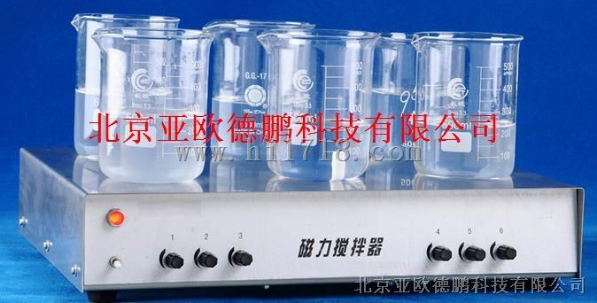 六工位磁力搅拌器/多工位磁力搅拌器/磁力搅拌器  型号:DP-1A