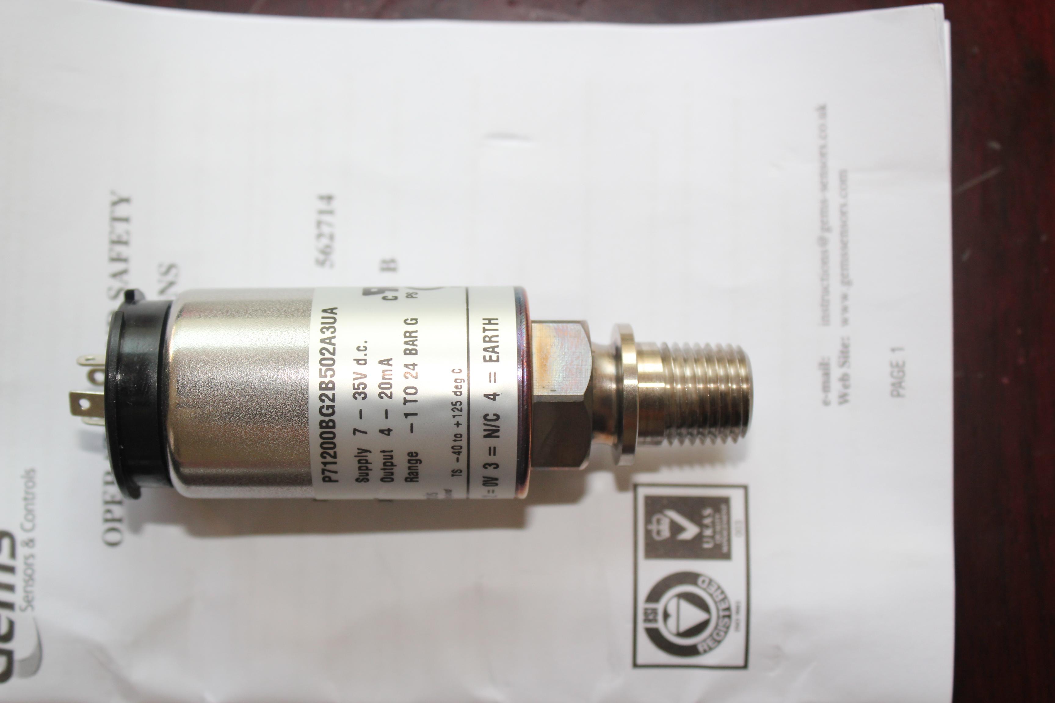 压力变送器(美GEMS) 型号:BX35/P71200BG2B502A3UA