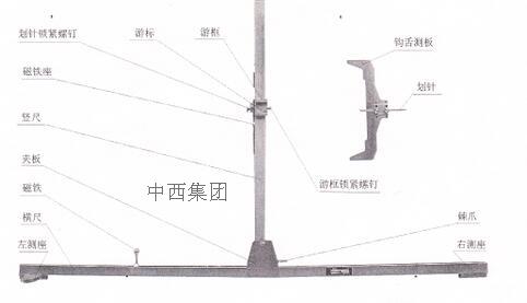 车钩中心高度测量尺