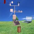 便携式气象站(环境温度,相对湿度,风速,风向,气压,太阳辐射,雨量)太阳能供电,无线传输JZZ1-PC-4