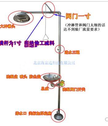 304不锈钢复合式冲淋淋浴洗眼器/复合式洗眼器HFD1-007-005