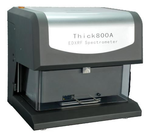 上海X射线镀层测厚仪Thick800A,天瑞仪器